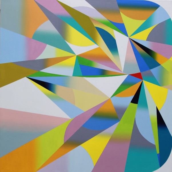 'Shift'2013,oil on canvas,128x128cm,paula garrard